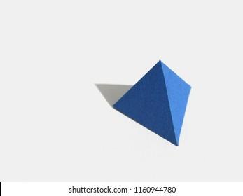 Regular polyhedron with four faces. Tetrahedron