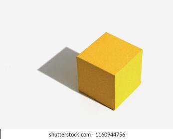 Regular polyhedron with six faces. Hexahedron