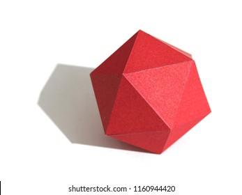 Regular polyhedron of twenty faces. Icosahedron