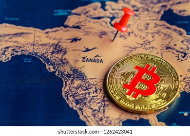 Regulations of bitcoin in Canada concept.