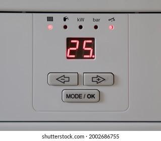 Regulator boiler heating and hot water.