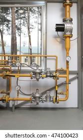 Regulator of pressure of gas in a boiler-house
