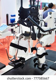 Rehabilitation robotic complex for restoration of walking skills in exhibition