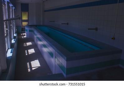 Rehabilitation swimming pool of 50s in abandoned Sanatorium