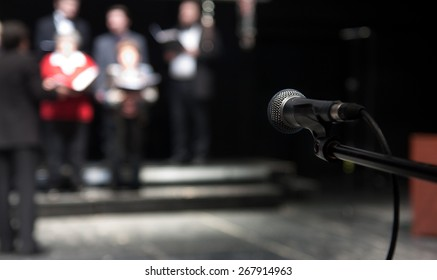 Rehearsal of a theatrical performance - actors and singers