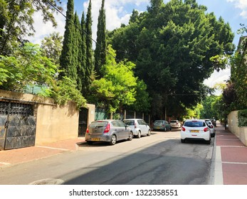 REHOVOT, ISRAEL - August 26, 2018:The street  in Rehovot, Israel.
