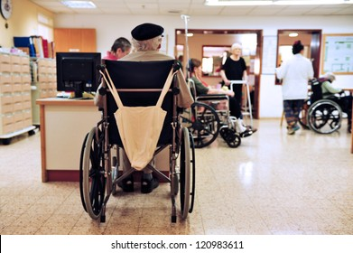 REHOVOT - JULY 17: Residents of the nursing home Hadarim on July 17, 2011 in Rehovot, Israel.Medical Marijuana use has been permitted since the 90s for patients pain-related illnesses