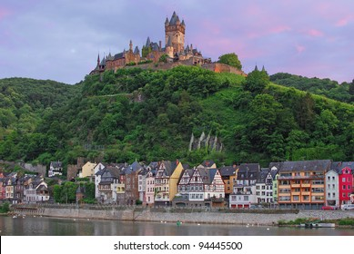 the Reichsburg in Cochem,Mosel Valley,Germany
