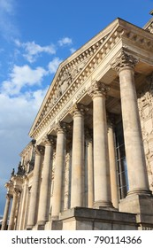 Reichstag building, German parliament house. Berlin, Germany.