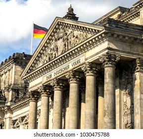 Reichstag building, seat of the German Parliament (Deutscher Bundestag), in Berlin, Germany