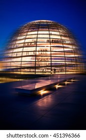 Reichstag (Bundestag) dome processed with a motion blur.
