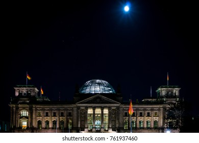 Reichstag in the night. Berlin. Germany.
