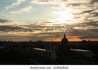 Paul-Löbe-Haus from reichstag in sunset Berlin, Germnay, May 10, 2014
