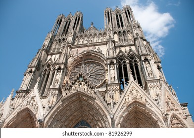Reims cathedral, Champagne region France