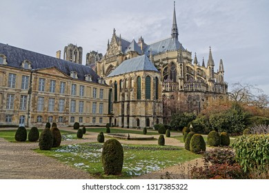 Reims Cathedral. This Roman Catholic cathedral was built on the site of the basilica where Clovis was baptized. This major tourist destination receives about 1 million visitors annually.