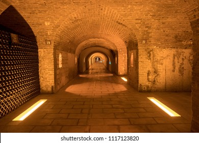 Reims / France - October 6 2016: Pommery Champagne Cellars