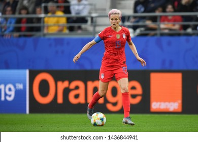 REIMS, FRANCE-JUNE 11:Megan Rapinoe of USA in action during the 2019 FIFA Women's World Cup France group F match between USA and Thailand at Stade Auguste Delaune