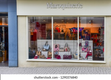 Reims,France-September 03,2018:Maroquinerie fashion store.