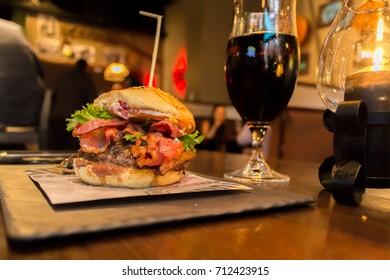 Reindeer burger and coke
