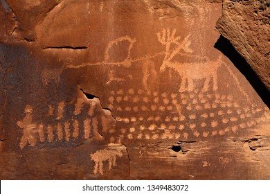 Reindeer petroglyph in Nine Mile Canyon, Utah