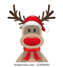 reindeer red nose santa hat scarf
