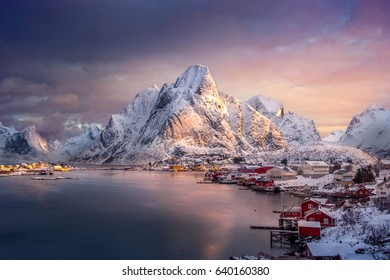 Reine village, Lofoten Island, Norway.