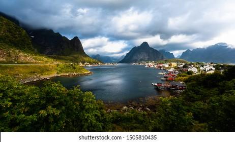 Reine,Norwegian fishing village at the Lofoten Islands in Norway.