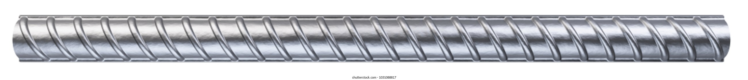 Reinforcement steel bar. Steel building armature. 3d illustration isolated on white background.