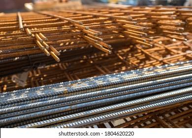 Verstärkung des Stahls auf einer Baustelle