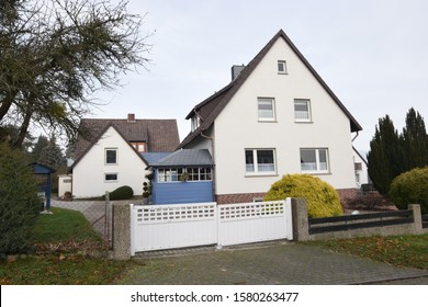 Reinsdorf, Germany - December 1, 2019: Residential house from the early 60s
