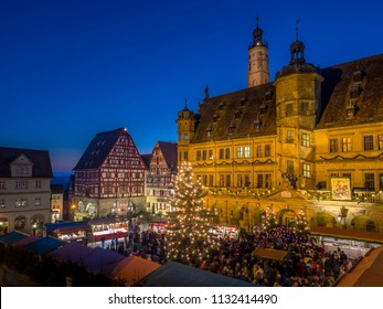 Reiterlesmarkt, Christmas Market in Rothenburg ob der Tauber, Franconia, Bavaria, Germany, Europe, 08. December 2015