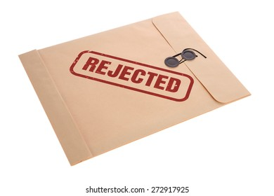 Rejected stamp on envelope