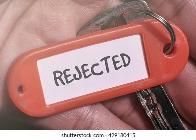 REJECTED word written on key chain