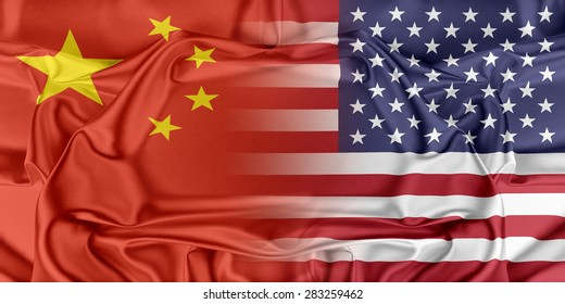 Relations between two countries. USA and China