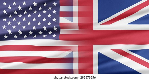 Relations between two countries. USA and United Kingdom.
