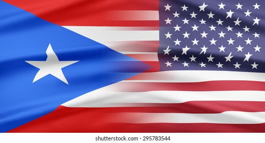 Relations between two countries. USA and Puerto Rico.