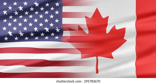 Relations between two countries. USA and Canada.