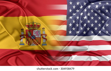 Relations between two countries. USA and Spain