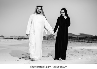 Relationship of arabic couple.