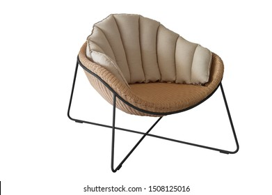 relax armchair with cushion. furniture on a white background