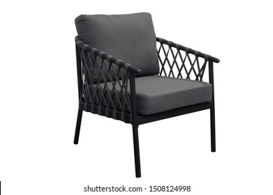 relax armchair with cushions. furniture on a white background