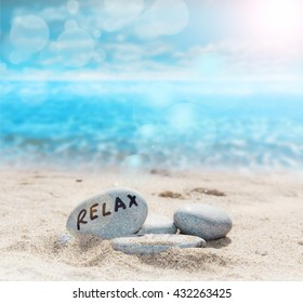 relax in the beach