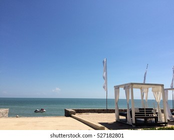 Relax at the beach and get a beautiful view from the sea.
