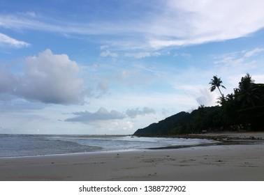 Relax Morning Beach at Kao Chang, Thailand