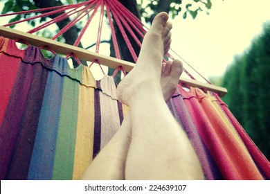 Relax on hammock.