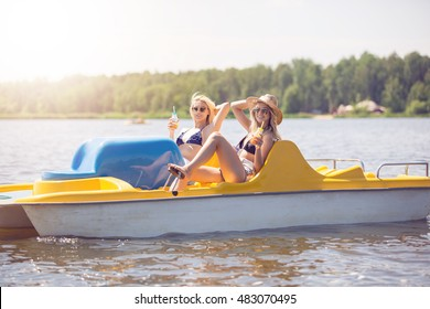 Relax on the paddle boat