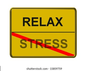 relax - stress