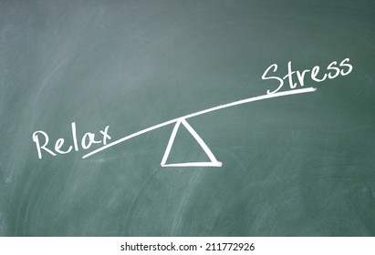 relax and stress concept