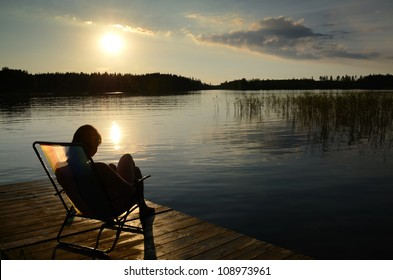 Relax at the sunset