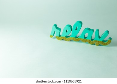 Relax word background